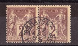 Paire Sage N° 85 - CàD Gravenhage (La Haye, Pays-Bas) 22 Avril 1888 - Peu Courant - 1876-1898 Sage (Tipo II)