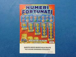 ITALIA BIGLIETTO LOTTERIA GRATTA E VINCI USATO € 3,00 NUMERI FORTUNATI LOTTO 3003 SERIE CC VARIANTE SENZA LOGO A TIMONE - Lottery Tickets
