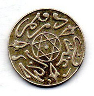 MOROCCO, 1 Dirham, Year AH1318, Silver, KM #Y10.2 - Morocco