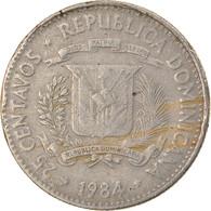 Monnaie, Dominican Republic, 25 Centavos, 1984, Dominican Republic Mint, Mexico - Dominicana