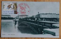 Premier Jour Timbre Croix-Rouge - 1989 - Soierie De Lyon - Sur CPA Du Pont Morand - (n°20165) - 1980-1989