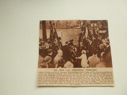 """Origineel Knipsel ( C 814 ) Uit Tijdschrift  """" Ons Land """"  1923 : Korporaal Trésignies   """" Verbrande Brug """" Vilvoorde - Zonder Classificatie"""