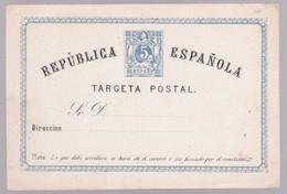 Entier Postal Stationery - Targeta Postal Repùblica Española - Ohne Zuordnung