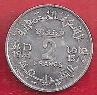 MAROC - EMPIRE CHÉRIFIEN 2 FRANCS - 1951 - Morocco