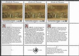 1992 UNO Genf Mi. 223-4**MNH   Allgemeine Erklärung Der Menschenrechte - Nuevos