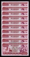 Mozambique Lot Bundle 10 Banknotes 1000 Meticais 1983 Pick 132a SC UNC - Mozambique