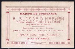 CARTE PUBLICITAIRE Début 1900 - KNOKKE - KNOCKE - AVENUE LIPPENS - Chaussures SLOSSE D'HAENEN - Reclame