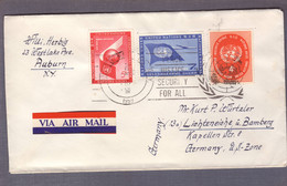 Lettre   ʘ United Nations New York 28.03.195?  > Auburn - Brieven En Documenten