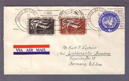 Entier Postal 4c + 3 Et 8c Droits De L'homme ʘ United Nations New York 21.10.1958 > Lichteneiche - Brieven En Documenten