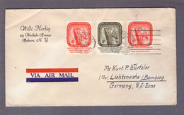 "Lettre "" Territoires Sous Tutelle "" ʘ United Nations New York 06.11.1955 > Lichteneiche - Storia Postale"