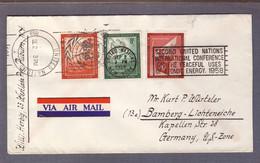 """Lettre """" Onseil De Sécurité + PA 4c"""" ʘ United Nations New York  02.09.1958 > Bamberg - Storia Postale"""