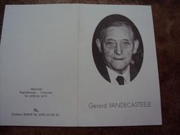 Doodsprentje/bidprentje  Gerard VANDECASTEELE (Echtg Maria VERMOORTEL) Westkerke° 1909 - † 1994 Oostende Vishandelaar - Religion & Esotericism