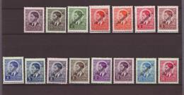 """Serbie - Timbres Yougoslave Surch """"Serbien"""" En Noir 1941 Série Complète Mi Mr 31 à 45 ** Sans Charnières, Tirage 50'000 - Serbia"""