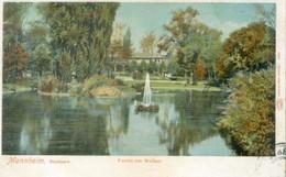 Mannheim 1903; Stadtpark. Partie Am Weiher - Gelaufen. (Louis Glaser - Leipzig) - Mannheim