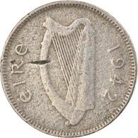 Monnaie, IRELAND REPUBLIC, 3 Pence, 1942, B+, Copper-nickel, KM:12a - Ireland