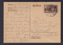 Saargebiet Ganzsache P 30 Saarbrücken Nach Lübeck 8.5.1934 - Abstimmungsgebiete