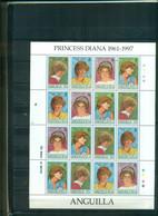 ANGUILLA HOMMAGE A LADY DIANA 1 MINI-FEUILLE DE 4 SERIES NEUF A PARTIR DE 3 EUROS - Anguilla (1968-...)
