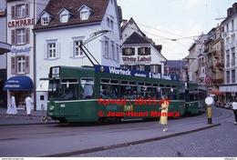 Reproduction D'une Photographie D'un Tramway Ligne 6 Allschwil Avec Publicité Warteck à Bâle En Suisse En 1988 - Reproductions