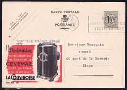 Publibel N° 1171 ( LA COUVINOISE  Chauffage Au Mazout - Chimie - Pétrole, énergie Fossile) - Publibels