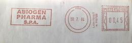 Health, Pharmacy, Italia  2004, Pisa, Abiogen Pharma S.P.A. Fragemnt Cover Special Postmark - Zonder Classificatie