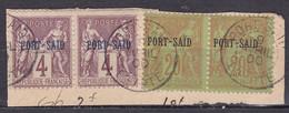 CF-PO-01 – FRENCH COLONIES – PORT-SAÏD – 1899 – SG # 104(x2)-110(x2) USED 45 € - Usati