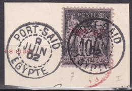 CF-PO-02 – FRENCH COLONIES – PORT-SAÏD – 1899 – Y&T # 7 USED 14 € - Usati
