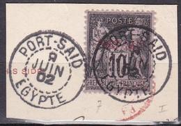 CF-PO-02 – FRENCH COLONIES – PORT-SAÏD – 1899 – Y&T # 7 USED 16 € - Gebruikt
