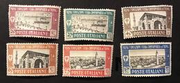 1927 Colonie Italiane Libia Ià Prima Fiera Di Tripoli MH* S.14 Linguellata Completa Fra.1766 - Libya