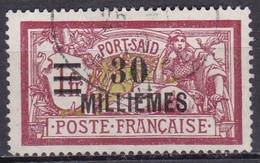 CF-PO-03 – FRENCH COLONIES – PORT-SAÏD – 1921-23 – Y&T # 57 USED 12 € - Usati