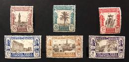 1928 Colonie Italiane Libia IIà Prima Fiera Di Tripoli MH* S.15 Linguellata Completa Fra.1767 - Libya