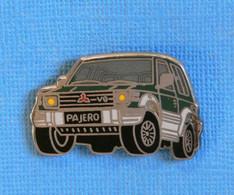 1 PIN'S //   ** MITSUBISHI PAJÉRO 1991 / 4WD - ABS / 3L - V6 ** . (BALLARD) - Mitsubishi