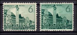 740 Leipziger Messe 6 Pfennig: Farbvarianten, Beide ** Postfrsich - Abarten