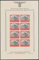 125U Fünf Jahre Generalgouvernement, UNGEZÄHNT Im Kleinbogen Mit Formnummer 3 ** - Besetzungen 1938-45