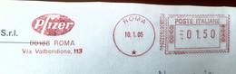 Health, Pharmacy,  Medicine Italia 2005, Roma Special Postmark Pfizer , Roma Italia 2005 - Apotheek