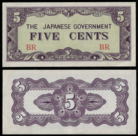BURMA - WWII JAPANESE GOVERNMENT BANKNOTE - 5 CENTS (1942) P#10a XF/AU (NT#05) - Other