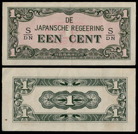 NETHERLANDS INDIES - WWII JAPANESE GOVERNMENT BANKNOTE - 1 CENT (1942) P#119b XF (NT#05) - Other