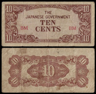 BURMA - WWII JAPANESE GOVERNMENT BANKNOTE - 10 CENTS (1942) P#11a F (NT#05) - Other