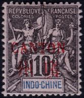 ✔️ Chine Canton 1901/1902 - Mouchon Groupé Avec Surcharge - Yv. 6 * MH - Cote €9  - Depart 0,99 - Unused Stamps