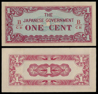 BURMA - WWII JAPANESE GOVERNMENT BANKNOTE - 1 CENT (1942) P#9b AU/UNC (NT#05) - Other