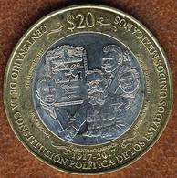 Mexico 20 Pesos 2017, Constitution Centennial, KM#New, Unc Bi-metallic - Mexico