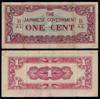 BURMA - WWII JAPANESE GOVERNMENT BANKNOTE - 1 CENT (1942) P#9b F/VF (NT#05) - Other