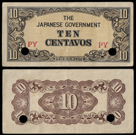 PHILIPPINES - WWII JAPANESE GOVERNMENT BANKNOTE - 10 CENTAVOS (1942) P#104a VF/XF (NT#05) - Other