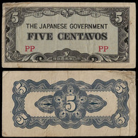PHILIPPINES - WWII JAPANESE GOVERNMENT BANKNOTE - 5 CENTAVOS (1942) P#103a VF (NT#05) - Other