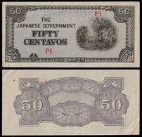 PHILIPPINES - WWII JAPANESE GOVERNMENT BANKNOTE - 50 CENTAVOS (1942) P#105 XF (NT#05) - Other