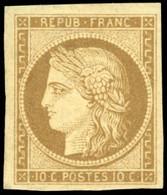 * 10c. Bistre-brun. Grandes Marges. SUP. - 1849-1850 Ceres