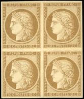 * 10c. Bistre-brun. Bloc De 4. 2 Timbres Sont **. SUP. - 1849-1850 Ceres