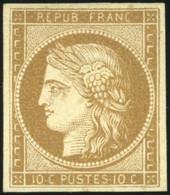 * 10c. Bistre-verdâtre. Très Frais. TB. - 1849-1850 Ceres