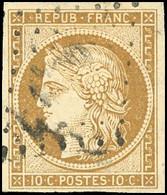 O 10c. Bistre-jaune. Obl. Légère. TB. - 1849-1850 Ceres