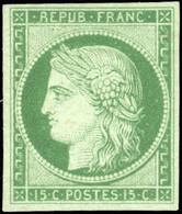(*) 15c. Vert. SUP. - 1849-1850 Ceres