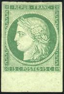 * 15c. Vert Foncé. Petit Pli. BdeF. SUP. - 1849-1850 Ceres